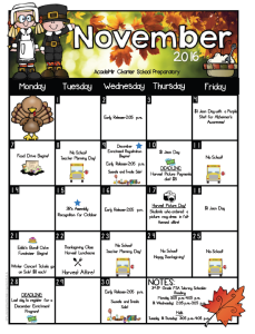 Eureka Calendar