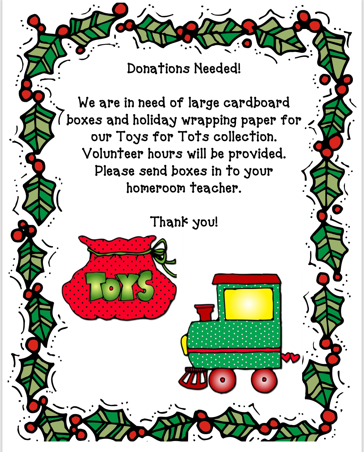 how to get a toys for tots donation box